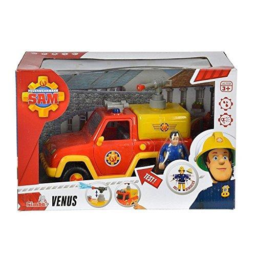 Preisvergleich Produktbild Simba 109257656 - Feuerwehrmann Sam Feuerwehrauto Venus mit Figur und Originalsound