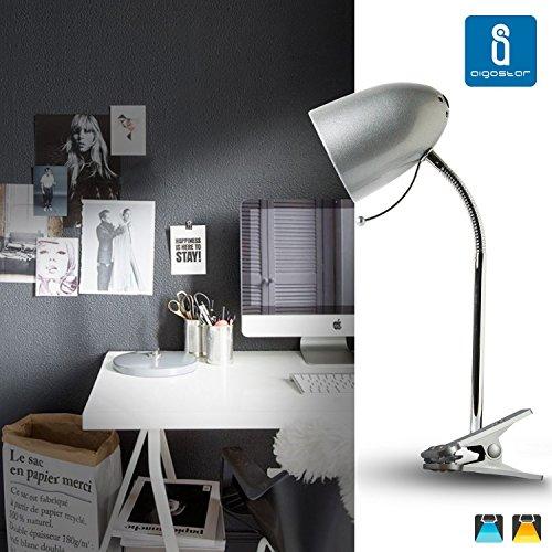 Aigostar 182281 - Lámpara de mesa tipo flexo con pinza de diseño ret