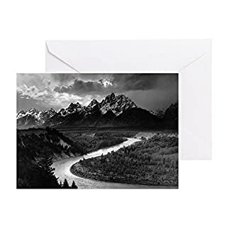 CafePress - Ansel Adams The Tetons And The Snake - Greeting Card, Note Card, Birthday Card, Blank Inside Glossy