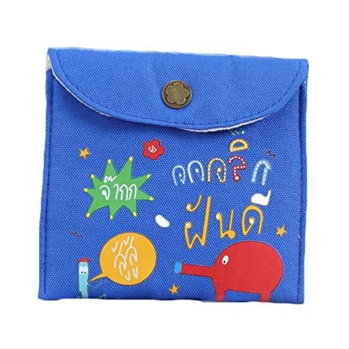 anpingyoupu Serviceable New Cartoon Pocket Bags Kids Serviette Candy Clutch Bag Women Girl Sanitär Handtuch Bag Baumwolle Sanitär Serviette Aufbewahrung Schlüssel Münzen Wechseln Kopfhörer Tasche Bl