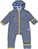 loud + proud Unisex Baby Schneeanzug Overall Fleece, Blau (Midnight/Natural Mi/Na), 80 (Herstellergröße: 74/80)