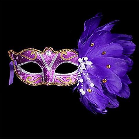 GXY - Masque peint en plume Mascarade Fête Costumée Fête d