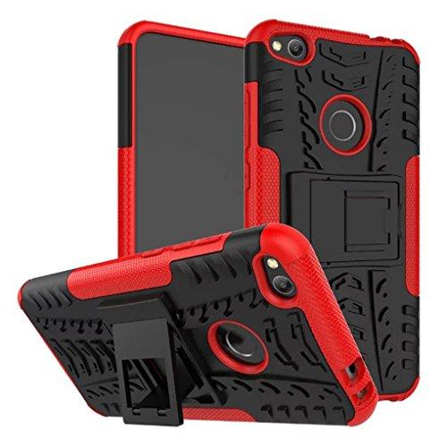 Preisvergleich Produktbild AIBULO® Huawei P8 lite 2017/Honor 8 lite/P9 Lite 2017/Nova lite Hülle TPU Case Schutzhülle Silikon Crystal Case für Huawei P8 lite 2017/Honor 8 lite/P9 Lite 2017/Nova lite (rot)