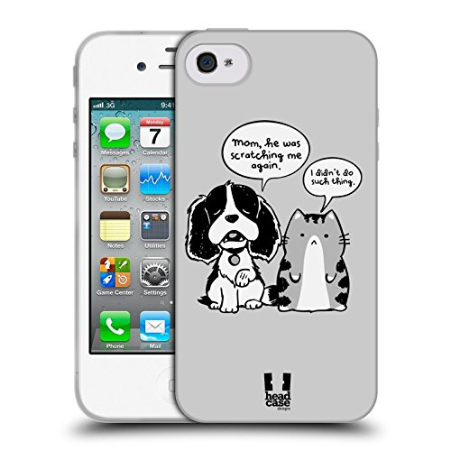 Head Case Designs Snitch Oscar E Howard Nero E Bianco Cover Morbida In Gel Per Apple iPhone 6 Plus / 6s Plus Scratchy Kitty
