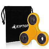 KIPTOP Juego de Mano Toys Spinner Finger para niños o adultos , Juguete Sensorial (Amarillo)