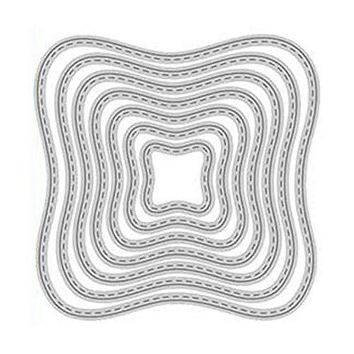 Stanzformen-Set aus Metall, gewellt, für Karten, Scrapbooking, Basteln, Prägen, Stanzformen, Schablone, China -