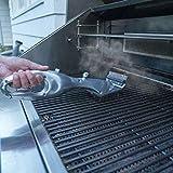 VDSXZ Barbecue Spazzola per la Pulizia del Barbecue in Acciaio Inossidabile Pulitore per griglia all'aperto con Accessori per Barbecue a Vapore con Utensili da Cucina, Argento
