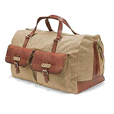 DRAKENSBERG Kimberley Long Weekender, bolsa de viaje, grande, XL, lona, cuero, vintage, safari