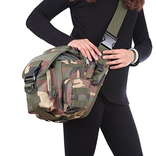 Kameratasche Taktische Militärische Fans Tasche Taschen Outdoor-Freizeit-Schulter-Kurier-Rucksack Sattel 5
