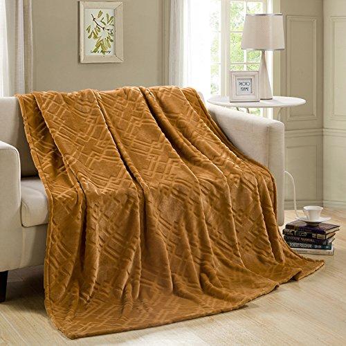 Fluff Trim (BDUK Timbro spessa Kim trigoni Lint-Free Fluff flangia coperte copriletti fare clic su doppia stagione estiva coperte cuscino per divani e climatizzatore)