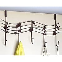 TESOON Over the Door Music Hanger Rack - Decorative Metal Hanger for Home
