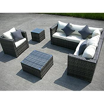 Lauren Luxury Grey Rattan Garden Furniture Circular Sofa