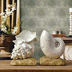 JYSPT Conch Bookends Retro Imitation Old Book File trasladado a New Home Reading Study Office Gifts