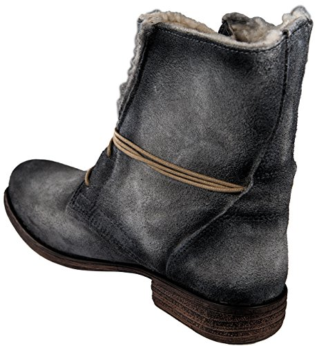 PostXChange Jessy Damen Stiefel/Stiefeletten gefüttert - Leder/Veloursleder Ciment Destroy TWhsmd1