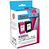 Pack de 2 Cartouches Compatible HP300XL Bk + HP 300 XL Cl
