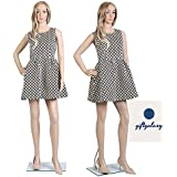 GIFTGALAXCY® Plastic Female Full Body Mannequin Display Dummy for Showroom and Shops (Skin Color, 5.10ft)