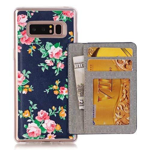 SEBAS Home Samsung NOTE8 Garden Series 2-in-1-Mobile-Shell-Kartenaufkleber Leder All-inclusive-N9550 Schutzfolie (Color : 2-NOTE8/N9550/N9500) Mobile Shell 2
