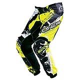 O'Neal Element MX Hose Shocker Schwarz Neongelb Motocross Enduro Offroad, 0124S-6, Größe 36/52