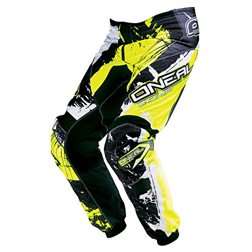 O'Neal Element MX Hose SHOCKER Schwarz Neongelb Motocross Enduro Offroad, 0124S-6, Größe 32/48 (Mx-hose)