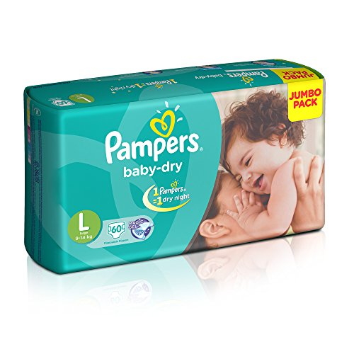 Pampers Large Size Diapers (60 Count)
