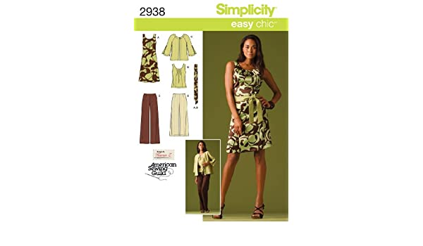Simplicity Schnittmuster 2938 BB Miss/Plus Größe Sportswear: Amazon ...