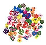 #8: Satyam Kraft Diy Mix Design 50 Pcs Wooden Button Scrapbook Motives With 2 Holes Wooden Buttons