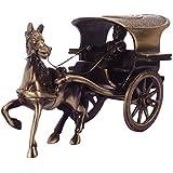 ECraftIndia Antique Finish Brass European Horse Cart