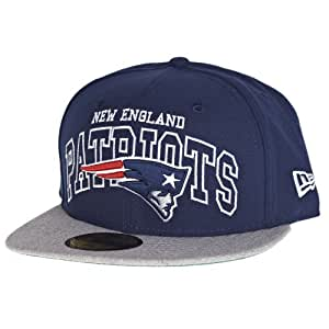 New Era New England Patriots Wordmark Central 59FIFTY Fitted NFL Cap 6 7/8