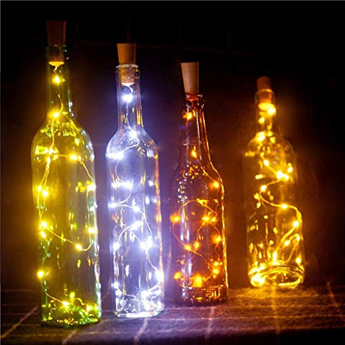 showkingL 1 Mt 10 Led-lampen Weinflasche Kunststoff Künstliche Korken Glasstopfen Fee String Sternennachtlicht Lampe Weihnachten DIY Dekoration Batteriebetrieben
