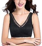 Intimate Portal Damen Ange BH ohne Bügel, mit Spitze und Floralem Design mit Taschen Schwarz 95C 100A 100B Band 100 / Etikett 6L