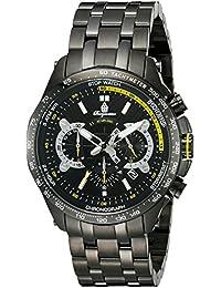 Burgmeister BM530-622 - Reloj de pulsera hombre, acero inoxidable chapado, color negro