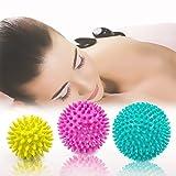 Spiky Massage Ball, 3 Stück Deep Tissue Trigger Point Roller Set – Trigger Point Reflexologie Stress Release – myofasical Ball, Bewegung Massage Ball, Lacrosse Ball, Fuß Massage Ball