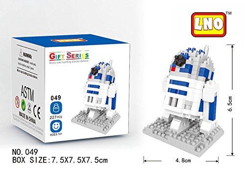 LNO STAR WARS. Figura para armar con minibloques. Bloques en miniatura. (R2D2)