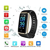 Fitness Tracker,0.96'Smartwatch Impermeabile IP68 Orologio Cardiofrequenzimetro Polso Touch Screen...