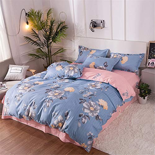 YUNSW Baumwolle Bettbezug Twin Queen King Size Bettdruck Pastorale Bettbezug Single Double Tröster Abdeckung A 200x230cm