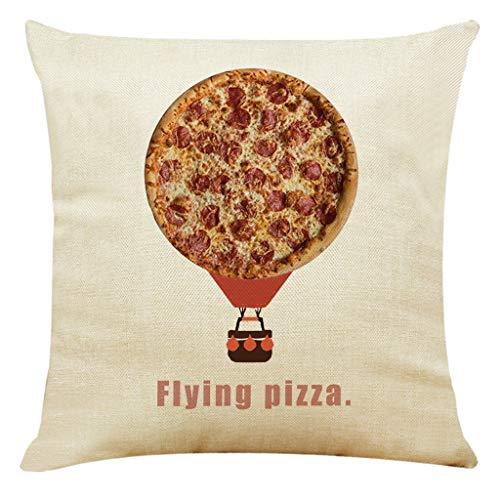 Moserian Home Decor Kissenbezug Delicious Pizza Style Kissenbezug Dekokissenbezüge