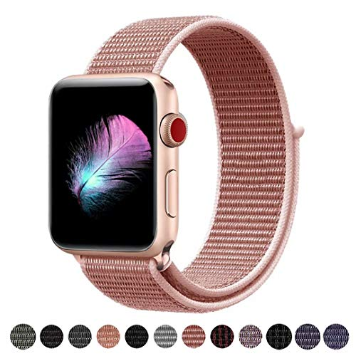 HILIMNY Für Apple Watch Armband 38MM, Ersatz für iwatch Armband Series 3, Series 2, Series 1 (Rose Pink, 38MM)