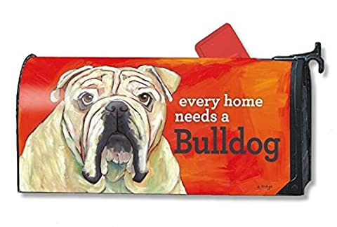 Mailwraps Bulldog Dog Magnetic Mailbox Cover