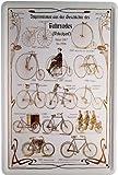 Blechschild historische Fahrräder Übersicht 20 x 30cm Reklame Retro Blech 935