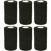 Bendaggio elastico adesivo 6 rotoli x 10 cm x 4,5 m Nero