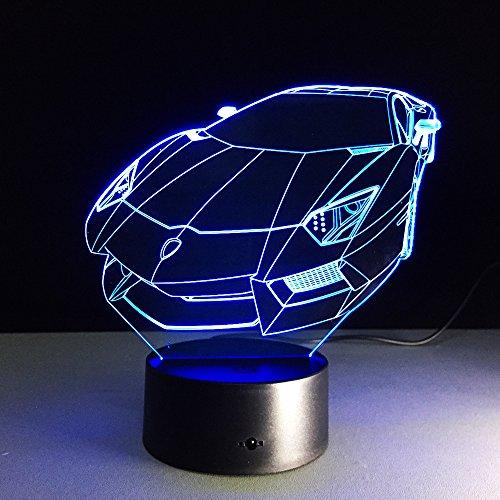 Farbwechsel Acryl Nachtlicht Sportwagen Auto Hologramm Hauptbeleuchtung Schlafzimmer Dekoration Tisch Tisch