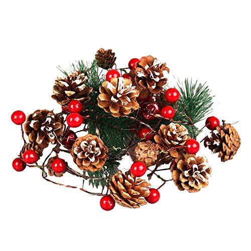 Lichter Lichterkette, TIREOW 2M 20LED Weihnachten Tannenzapfen String Licht, Dekoration für Hochzeit, Party, Geburtstag, Haus, Garten, Wohnzimmer, Terrasse Rasen
