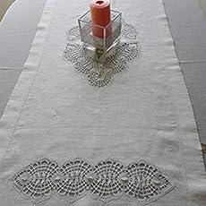 Camino de mesa, mantel de lino