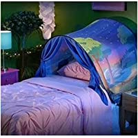 Kangrunmys_ Tente De Lit Enfant Garcon Fille Princesse Tunne Lit RêVe Jouer Pop Up Ciels Lit Playhouse Interieur Tent Cadeau Moustiquaires Ciels de Lit