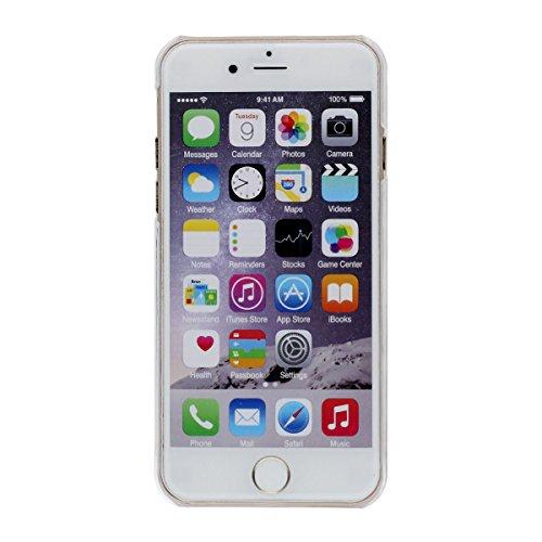 """Étui Apple iPhone 6 4.7"""", iPhone 6S Coque Dur Transparent Clair Poids léger - Arbre de Noël Père Noël Motif Serie - Original Écoulement Briller Poudre Eau Liquide Belle Désign Noir"""