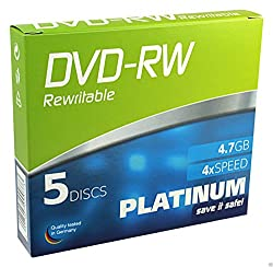 Platinum 102570 Dvd-rw 4,7gb, 4x Speed, 5er Slimcase