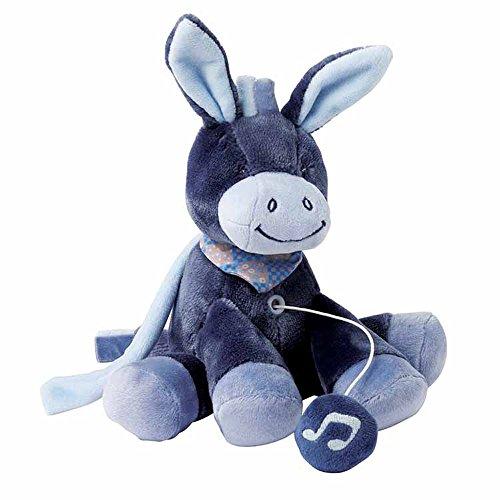 Nattou Mini Spieluhr, Jungen, 20 cm, blau - Alex der Esel