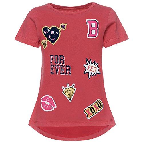 BEZLIT Mädchen T-Shirt Kurzarm Strech 21843, Farbe:Dunkelrosa, Größe:116