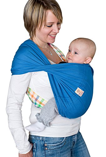 Babytuch - das Tragetuch ohne Knoten (3, Königsblau)