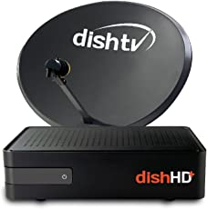 Dish TV HD (Free Recorder) Set Top Box with Recording + 1 Month Subscription Free